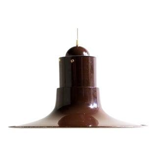Vintage Fluted Brown Hanging Lamp