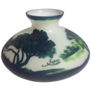 Galle Style Cameo Glass Vase