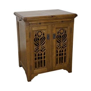 Jonathan Charles Gothic Style Oak Wine Cabinet