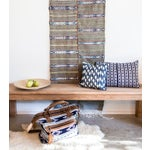 "Image of Indigo & White Dotted Ikat Pillow - 18"" X 18"""