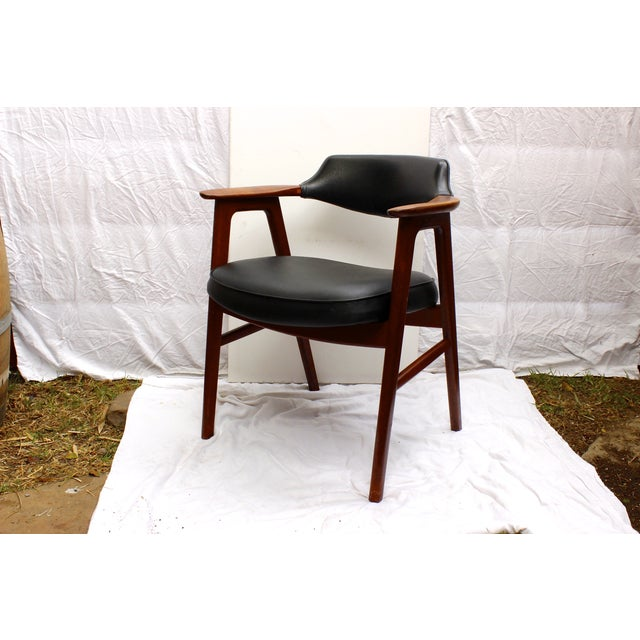 Erik Kirkegaard Mid-Century Danish Desk Chair - Image 5 of 7