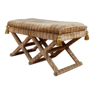 X Base Upholstered Bench