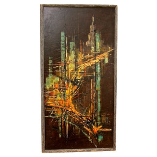 Abstract Brutalist Painting by Edward Cathony