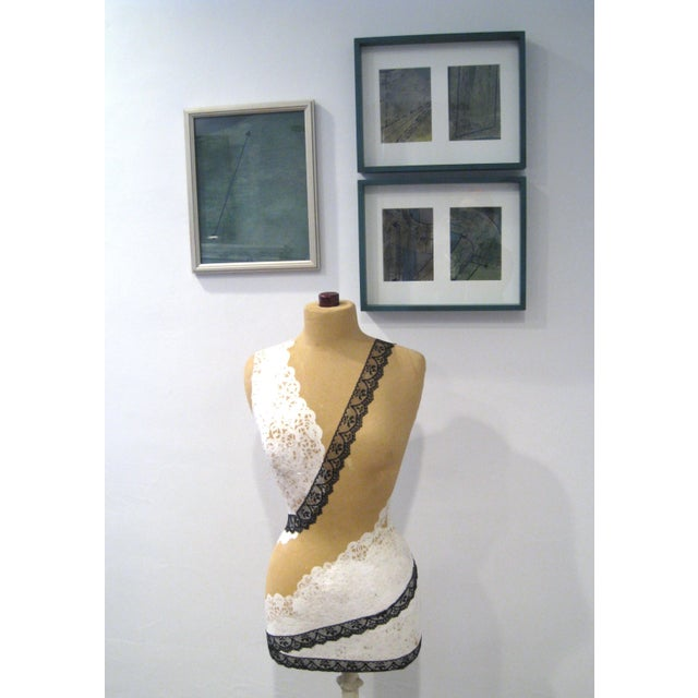 Lacy Mannequin with Antique Cast Iron Base - Image 7 of 8