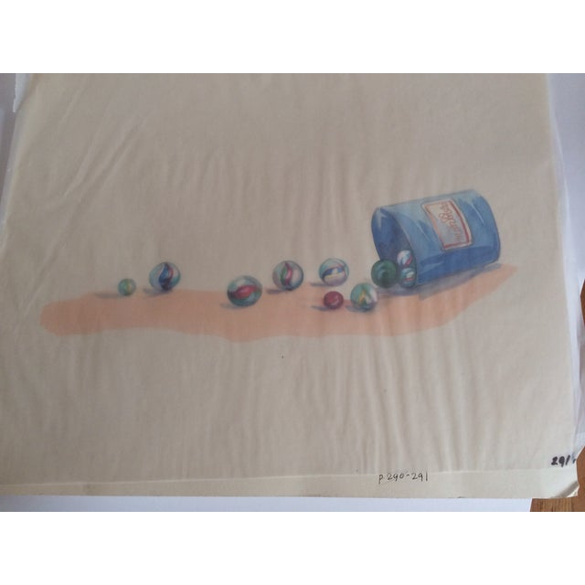 Watercolor Marbles Advertising Lithograph - Image 4 of 5
