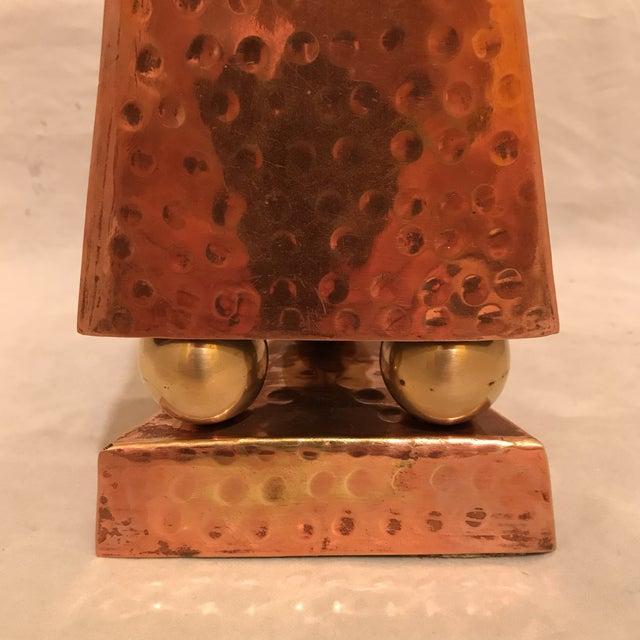 Hammered Copper & Brass Pyramidal Obelisk - Image 4 of 5