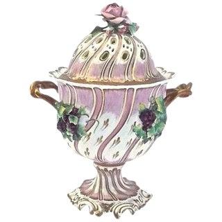 Antique Porcelain Potpourri Compote