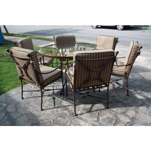 Image of Sunbrella Cushion Outdoor Dining Set