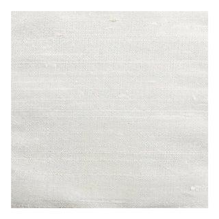 Upholstery Grade White Dupioni Silk Wallcovering - 20 Yards