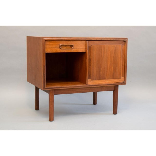 Image of Jack Cartwright for Founders Walnut Nightstands - A Pair