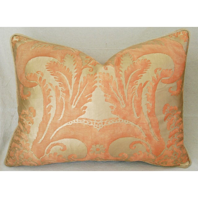 Italian Fortuny Glicine Gold Pillows - Pair - Image 6 of 11