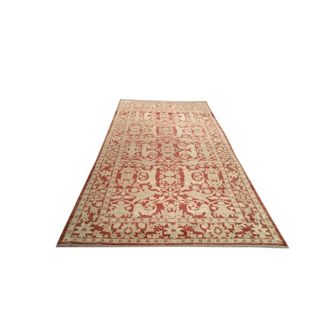6′ × 13′5″ Vintage Traditional Hand Made Knotted Wide Runner Rug - Size Cat. 13 Ft 14 Ft Wide Runner - Image 1 of 2
