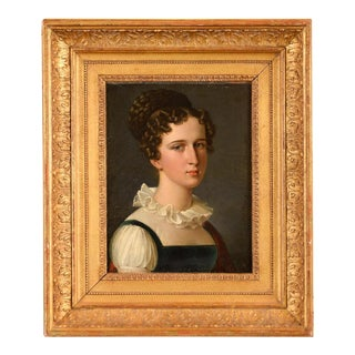 Antique Oil Painting Portrait by Francois Pascal Gerard