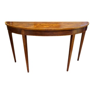 Henkel Harris Federal Style Inlaid Mahogany Console Table