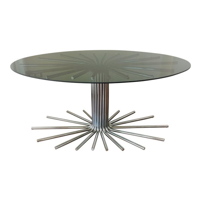 Mid-Century Chrome Starburst Dining Table - Image 1 of 8