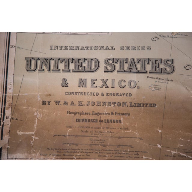 USA & Mexico Antique Pull Down Map - Image 5 of 10
