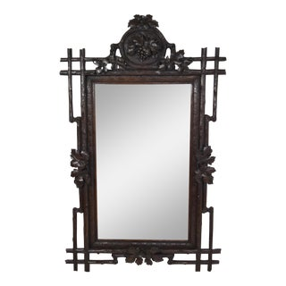 19th Century Black Forest Carved Mirror