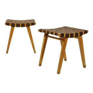 Jens Risom Pair of Stools by Knoll