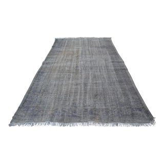 Gray Overdyed Rug - 6′3″ × 10'