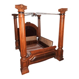 Luxury 4-Pillar Cherry Master Bedframe