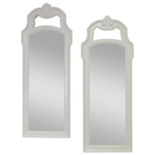 Drexel Heritage Cartouche Wall Mirrors - A Pair