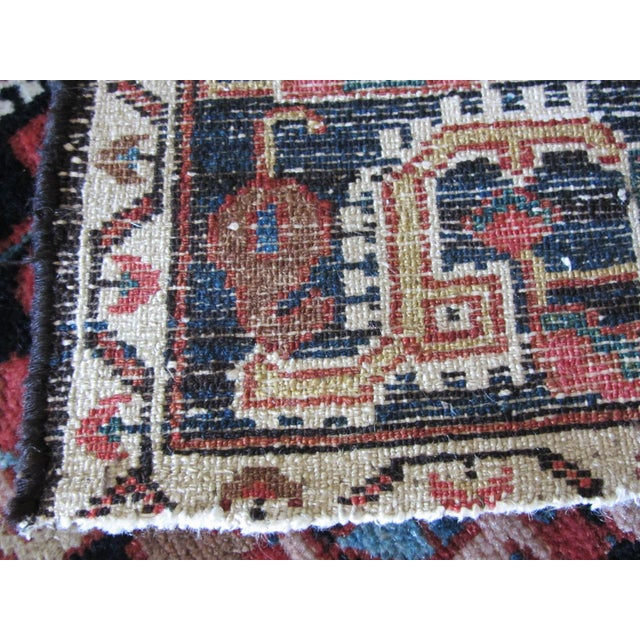 "Vintage Heriz Persian Rug - 4'7"" X 6'6""ft - Image 9 of 10"