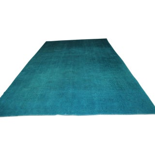 Overdyed Blue Turquaz Rug - 5′10″ × 9′2″