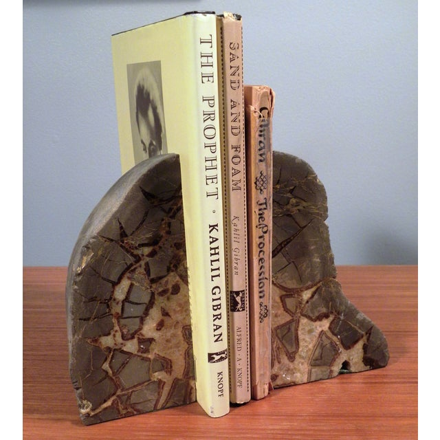 Vintage Mid-Century Modern Agate Bookends - A Pair - Image 6 of 6