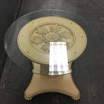 Image of Classical Medallion Pedestal Side Table