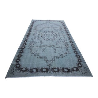 "Vintage Distressed Overdyed Rug - 5'3"" X 9'3"""