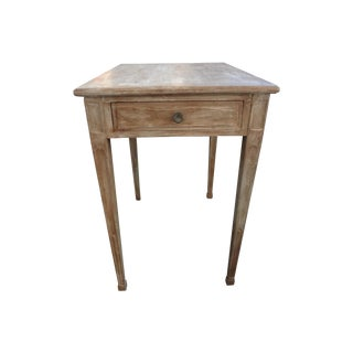Antique French Louis XVI Painted Side Table