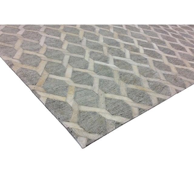 Pasargad Cowhide Hand-Loomed Sari Silk Rug - 2' X 3' - Image 4 of 4