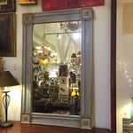 Image of Antique Hand Painted Mirror