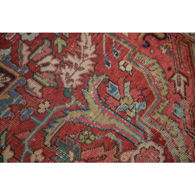 "Distressed Ahar Heriz Carpet - 8'2"" X 11'9"" - Image 10 of 10"