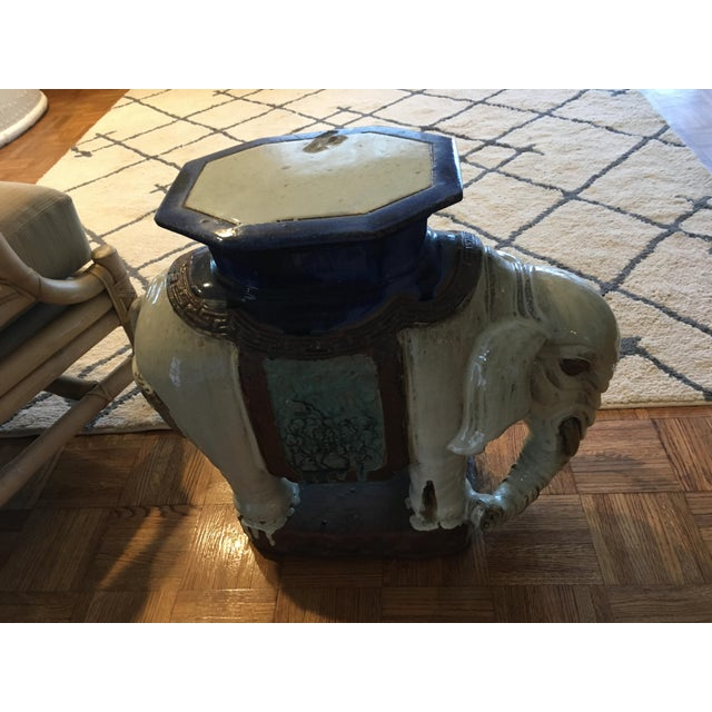 Vintage Elephant Garden Stool or Side Table - Image 7 of 7