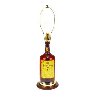 Vintage Seagram's 7 Whisky Bottle Table Lamp