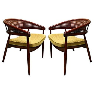 1960s Cane Back Chairs - Pair