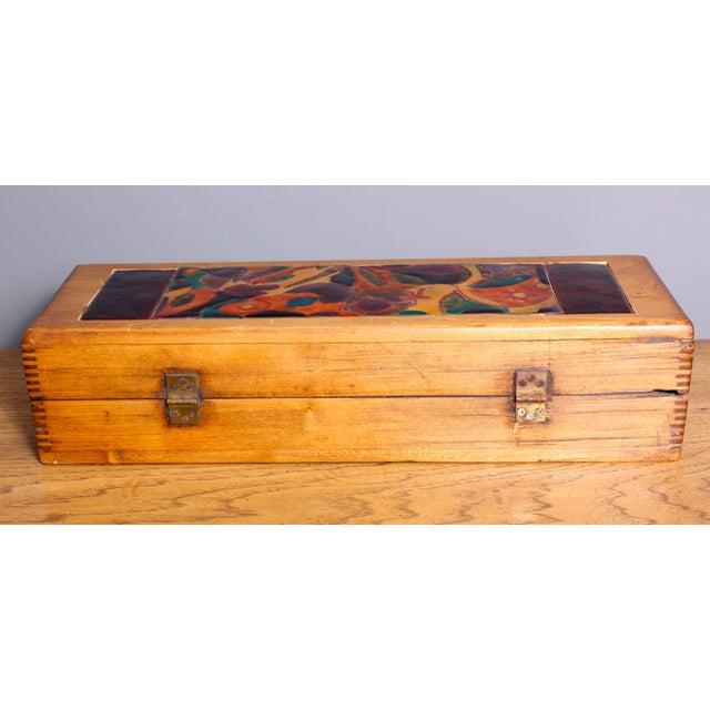 Image of Late 1940s Elizabeth Bensley Enamel Wooden Box