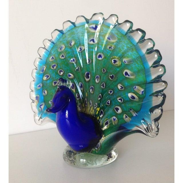 Image of Italian Murano Handblown Peacock