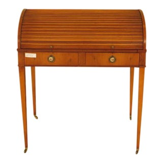 John Widdicomb Yew Wood English Style Tambour Desk