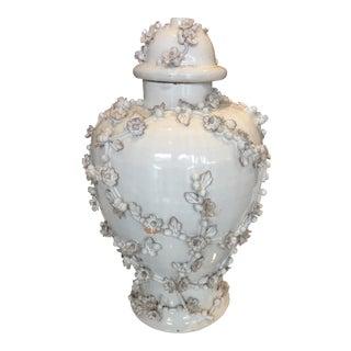 Glazed Terra Cotta Jar with Lid