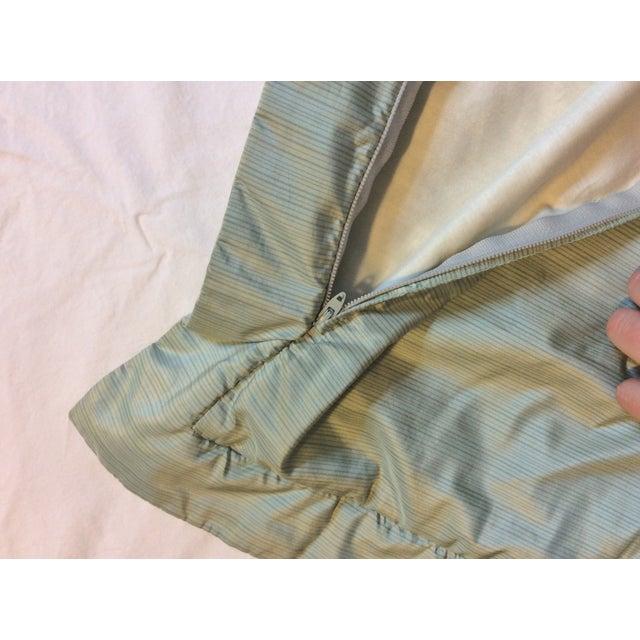 Aged Fortuny Fabric Euro Shams - Pair - Image 5 of 6