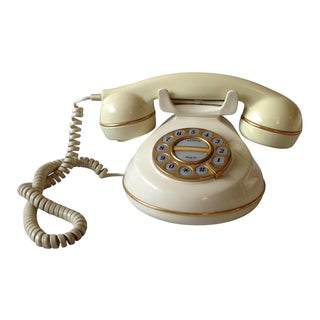 Vintage Cream and Gold Phone