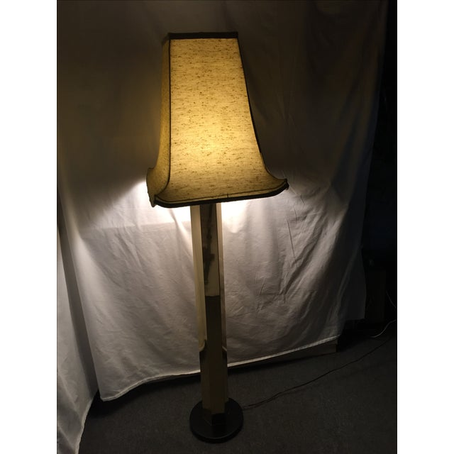 Hexagonal Brass Column Floor Lamp - Image 3 of 9