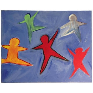 Color in Motion Abstract Star Dancers Painting