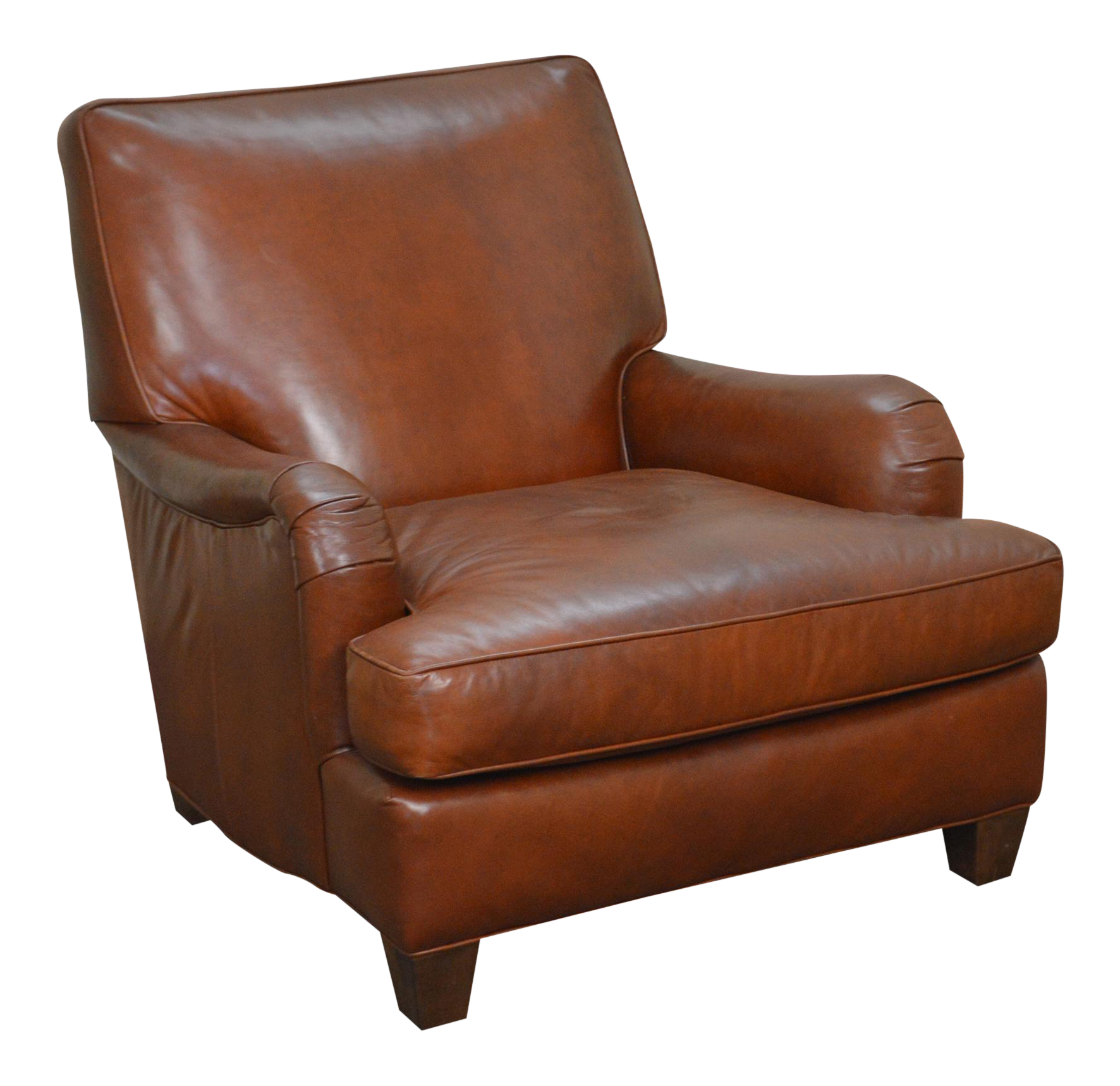 lee industries brown leather lounge chair