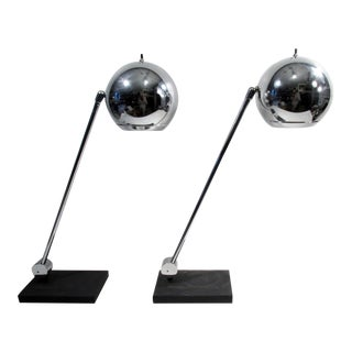 Robert Sonneman Chrome Table Lamp - A Pair