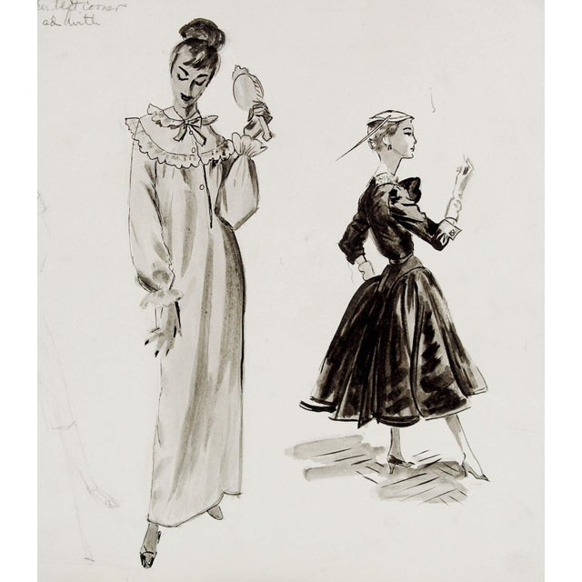 1950 S Fashion Drawing Studies Chairish