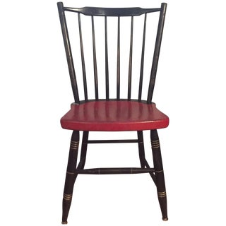 Antique Painted Red & Black Children's Chair