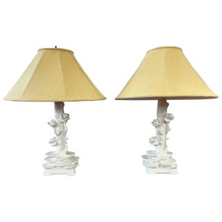 Pair of Pieri Chinoiserie Table Lamps in the Style of Serge Roche
